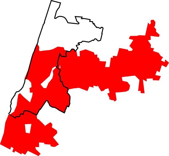 Contiguas Population density Tel Aviv